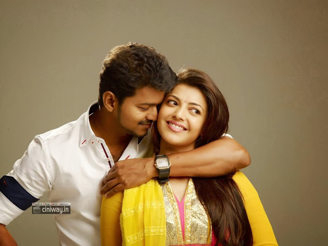 Jilla Vijay and Kajal Movie First Look Stills