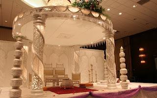 Decorações do casamento indiano