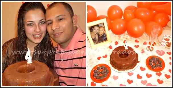 bolo aniversário de 4 anos de namoro