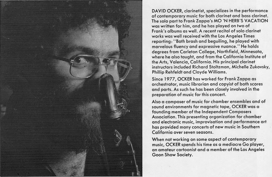 Zappa LSO program book - David Ocker's bio and picture