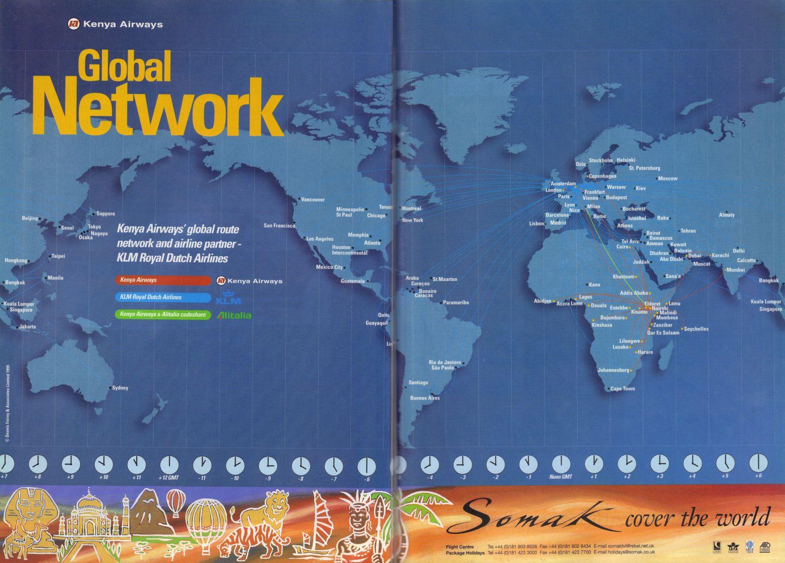 Airline Memorabilia: Kenya Airways, 1999   Fish Oil Benefits