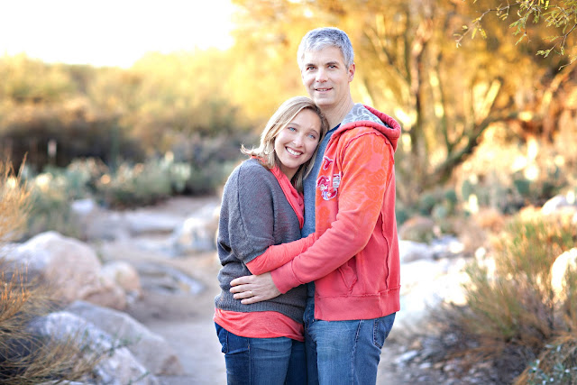 Beautifully colored photograph of man and woman at perfect Tucson Photography Location