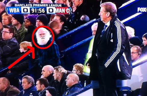 Santa Claus spotted in WBA-Man City game