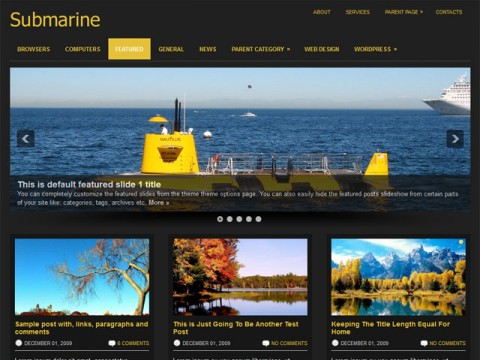 submarine 16 Best 2012 Free WordPress Themes