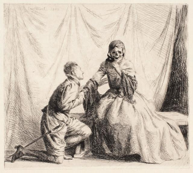 Den unge mand og Døden, Carl Bloch, 1880