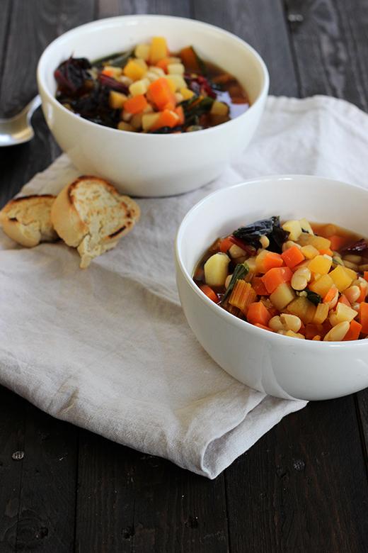 Wintergemüseminestrone Suppe Rezept Winter Soulfood vegan Holunderweg18 Foodblog Mädchenküche