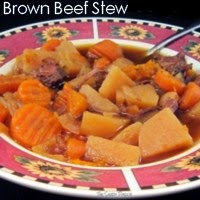 Brown Beef Stew
