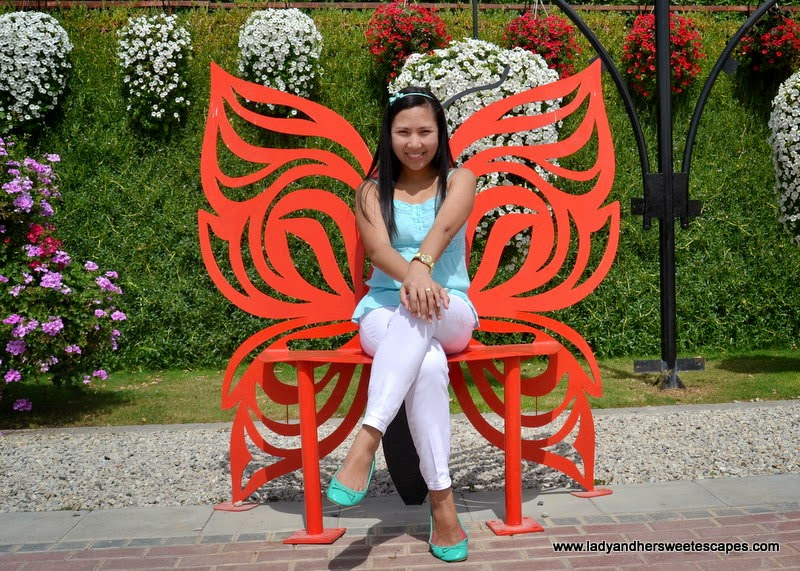 iron butterfly chair at Dubai Miracle Garden