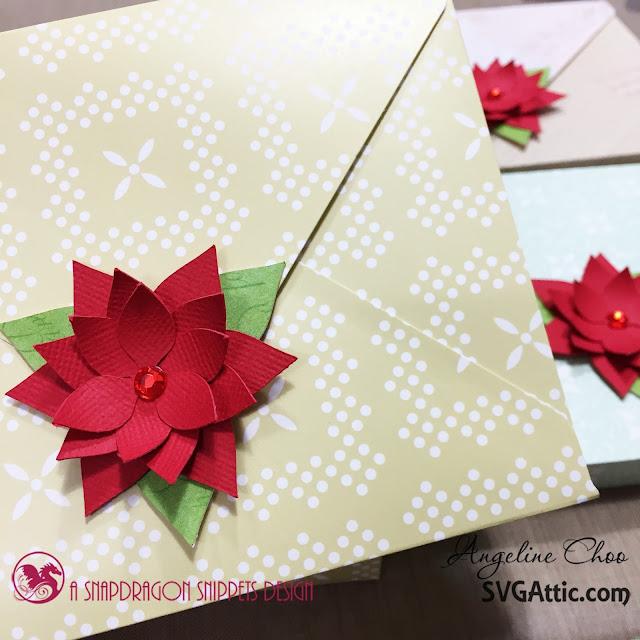 SVG Attic: Christmas Poinsettias with Angeline #svgattic #scrappyscrappy #poinsettia #christmas #winterwishes #svg #cutfile #diecut