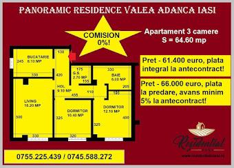 Apartament 3 camere - 64,60 mp