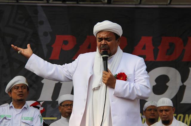 Habib Rizieq: Siap turunkan Jokodok?! Siap lengserkan Jokodok?! Takbir!