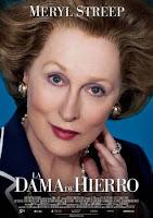 Cartel de la película La dama de hierro, protagonizada por Meryl Streep