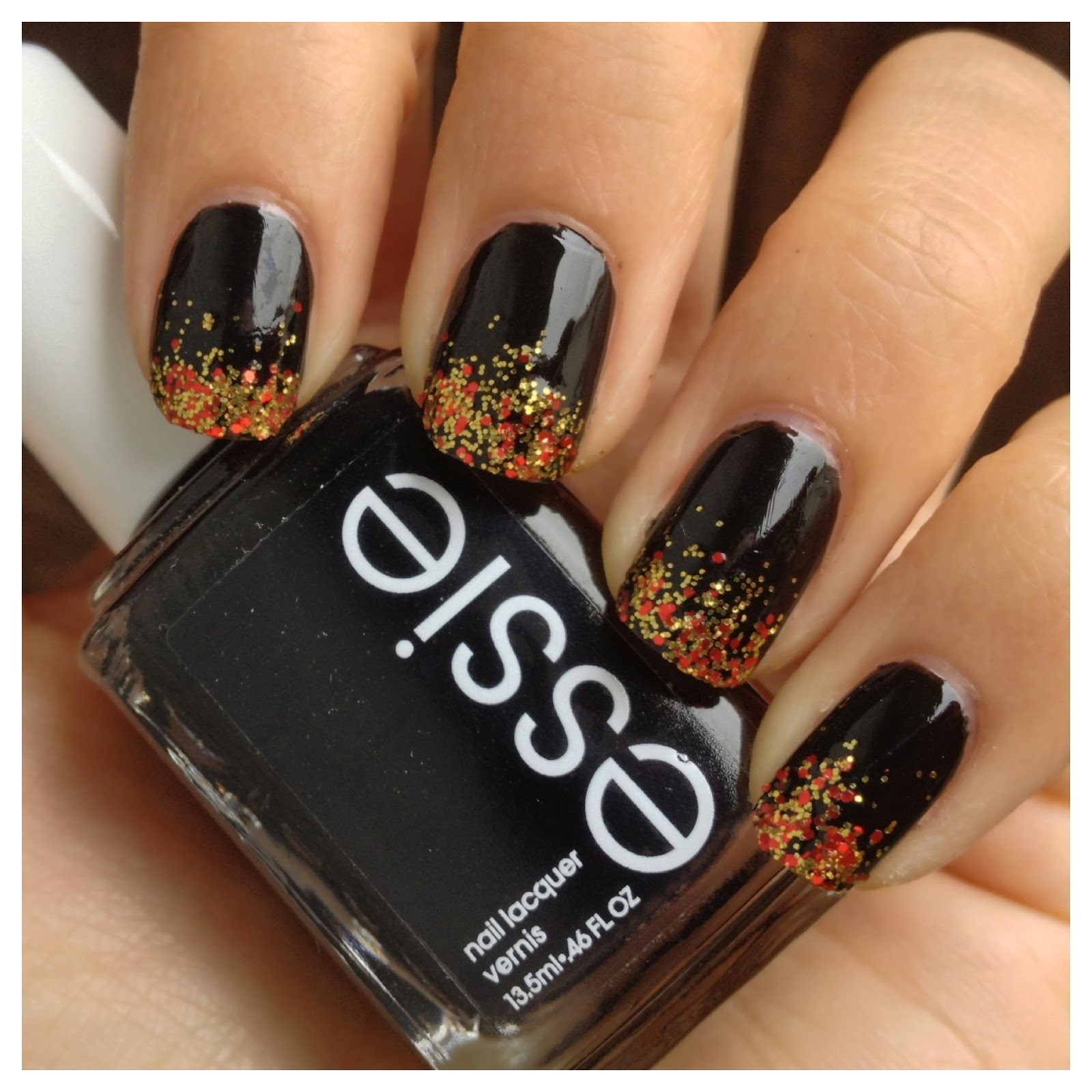 What i blog about when i blog about books notd girl on fire the result is a very simple glittered tip manicure perfect for those of us who are nail art challenged prinsesfo Gallery