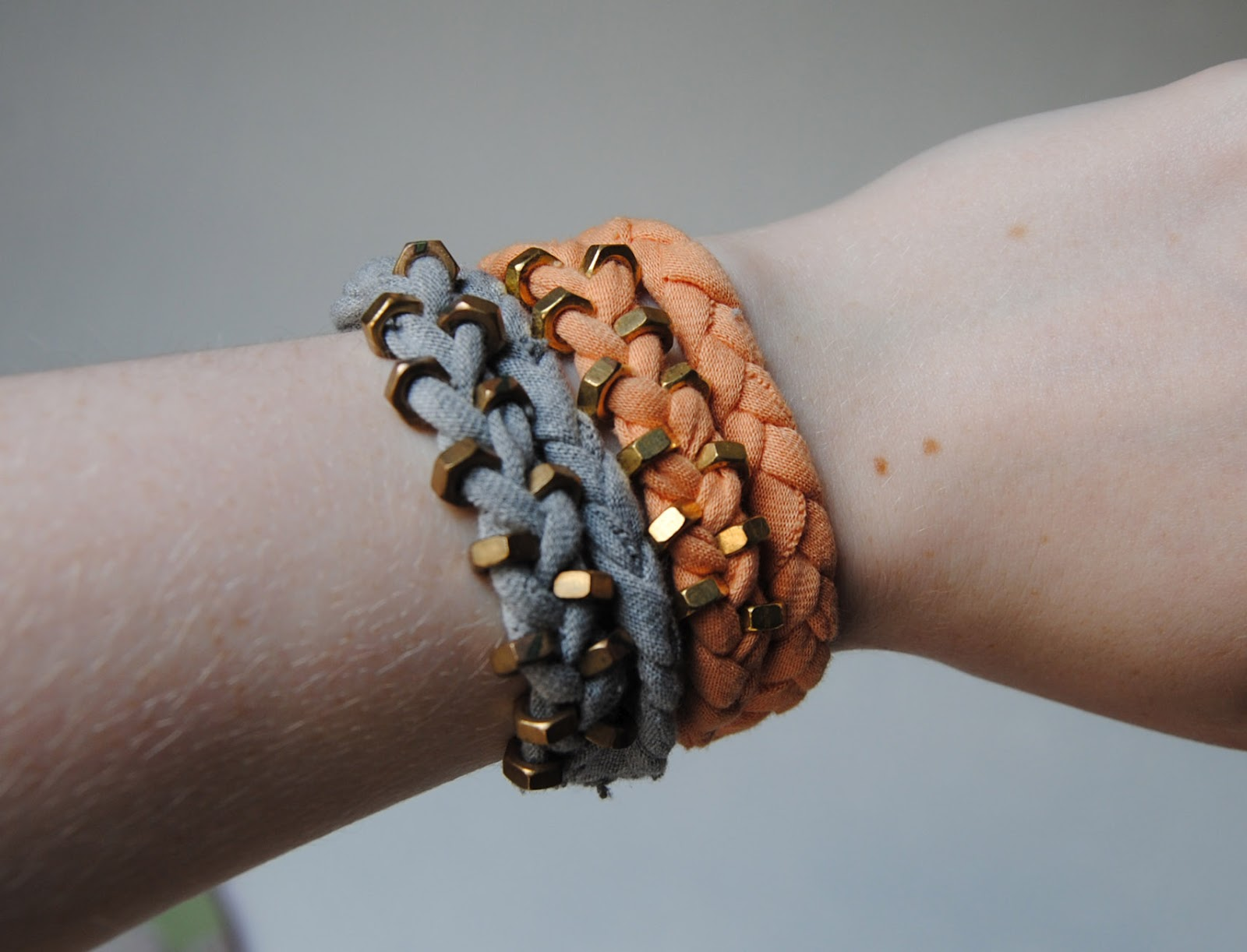 How to do a braided hex nut bracelet