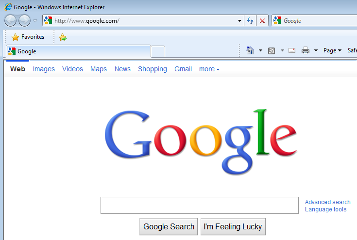 make google my home page
