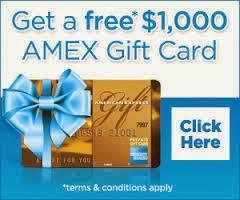 Free $1000 Amex Card