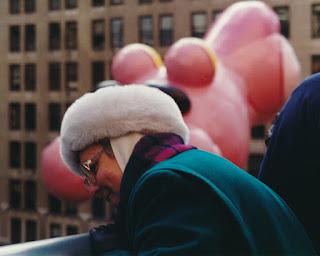Mom at Macy's Thanksgiving Day Parade, 1992