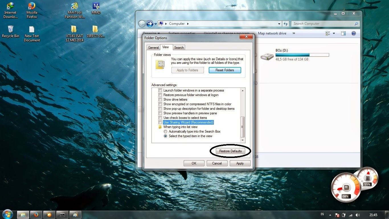 cara memunculkan file atau foto yang hilang