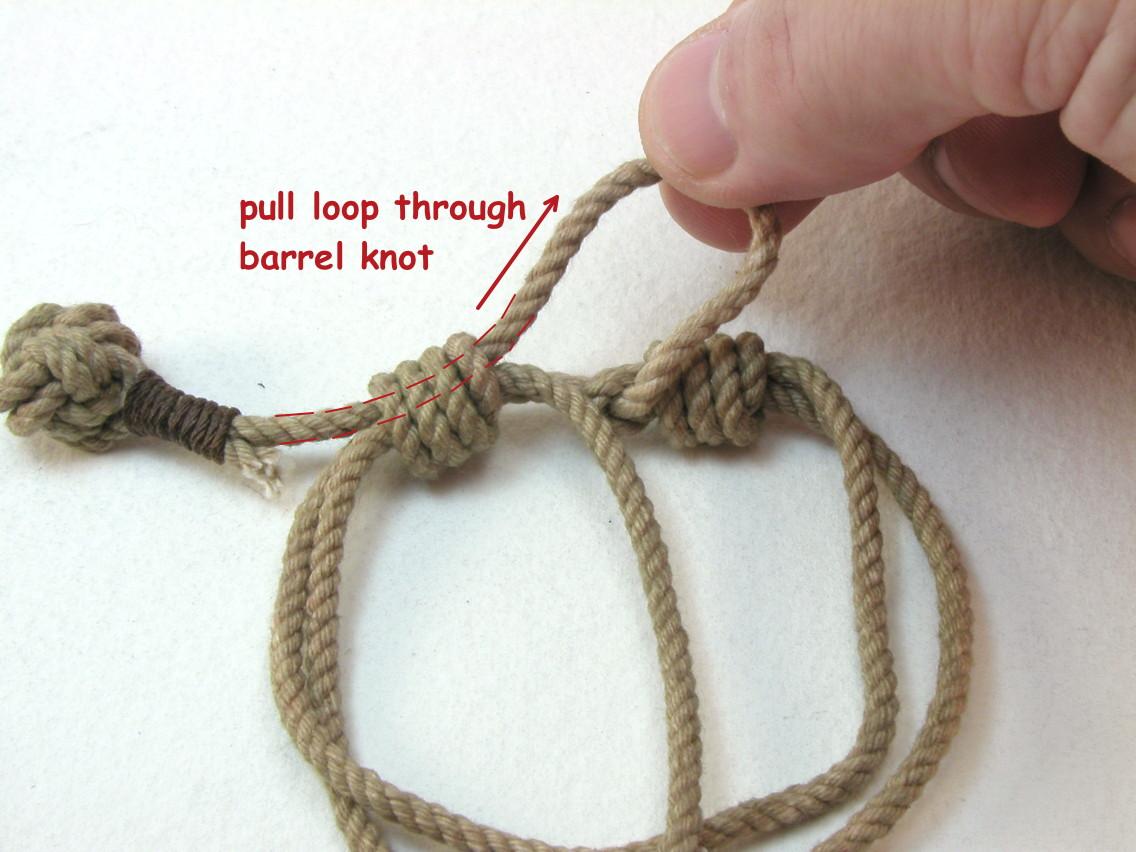 Double monkey fist knot