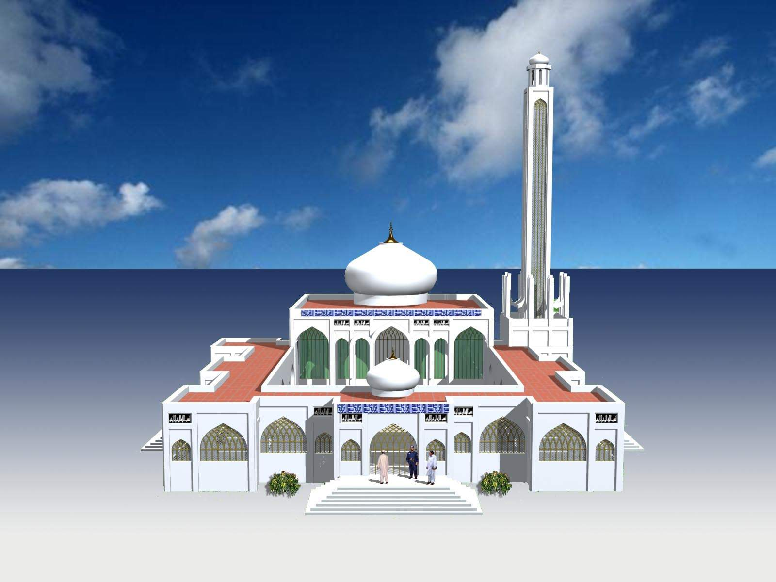 King2011 design for ceiling -  For Ceiling King2011 Mosque And School Design 3d