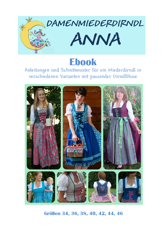 Ebook Damenmiederdirndl ANNA
