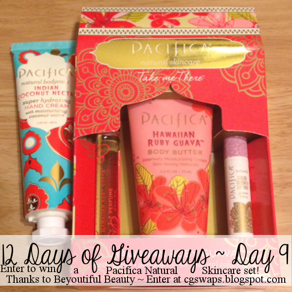 12 Days of Giveaways ~ Day 9: Pacifica Skincare Set