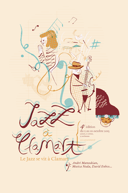 jazz, illustration, ilustración, cartel, affiche, clamart,