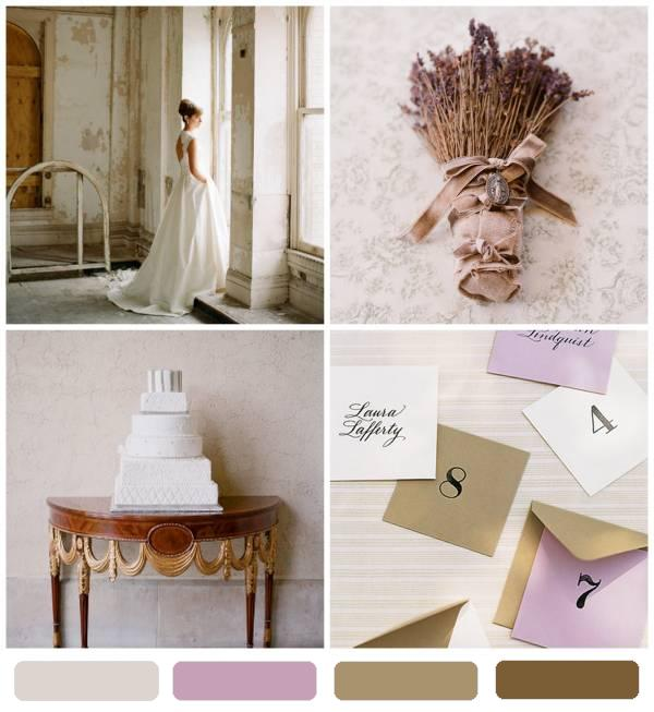 for one romantic wedding colors lavender wisteria stone plaster