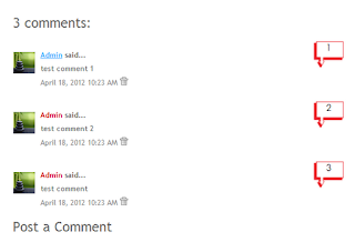 add bubble number for comments blogger blogspot
