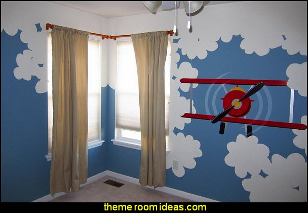 decorating theme bedrooms maries manor airplane theme paint by number wall murals for kids and adults