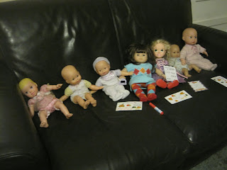 Dolls on a sofa