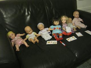 Dolls on a sofa