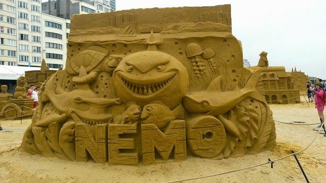 Nemo Disney Sand Sculpture,