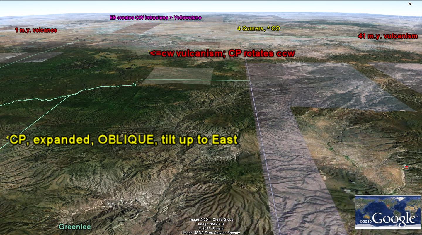 this is equivalent to lateral shear appearing as an increasing orthogonal magnitude wave on google earth
