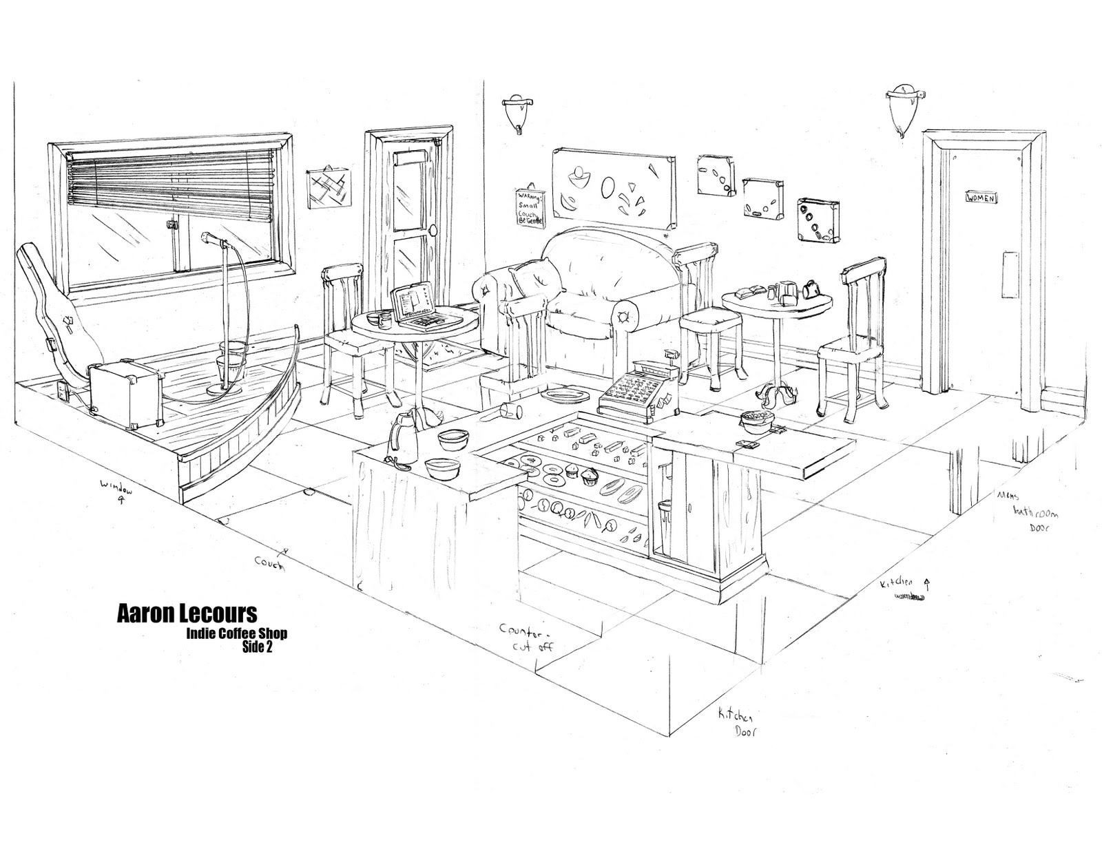 Coffee shop layout the image kid has it for Ferrocement house plans