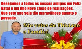 MENSAGEM DE NATAL E ANO NOVO DE THICIANO E FAMILIA!