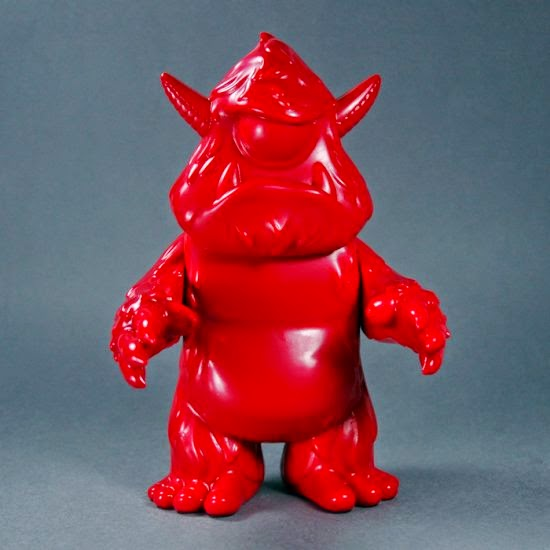 """Blank Red"" Stroll Vinyl Figure by Spanky Stokes"