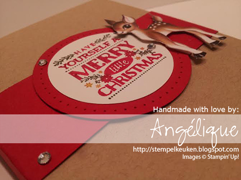 Stampin' Up! Bloghop Cozy Christmas, Home For Christmas DSP