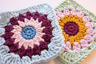 free crochet rosie posie granny square pattern