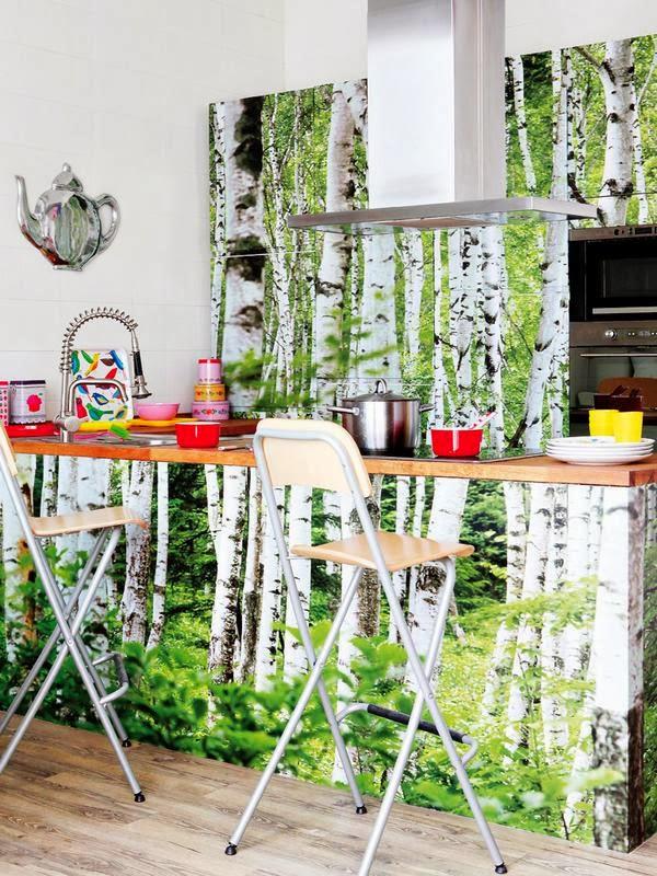 Fotomurales impresos en tejido no tejido decoraci n de - Papel decorativo cocina ...