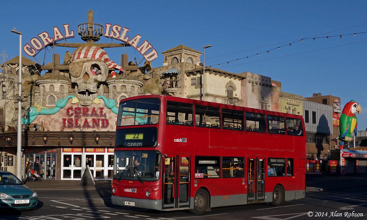 Blackpool Tram Blog: Oakwood's former London United Volvo B7TL