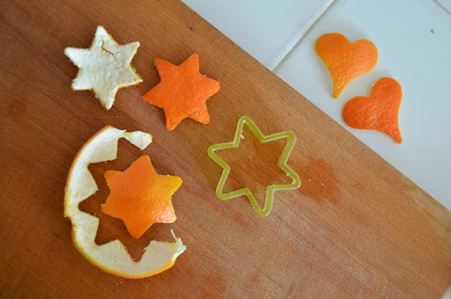 How to make mandarin orange peel garland