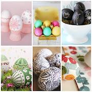 Como véis los Huevos de Pascua se pueden decorar de maneras diferentes y con . collage huevos