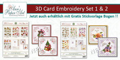 New 3D Card Embroidery Set 1 &2