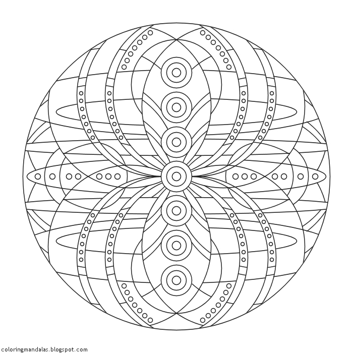 chakra mandala printable coloring pages - photo#21