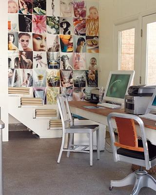 Neo arquitecturaymas decorar paredes con recortes de revistas for Decorar subida de escalera