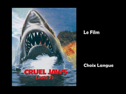 Cruel Jaws French DVD Zone All Menu