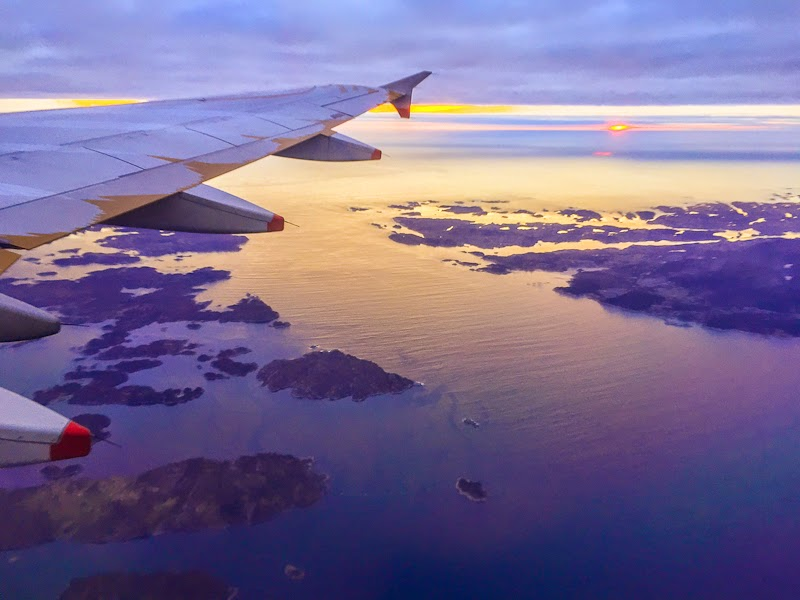 view of norway from the plane
