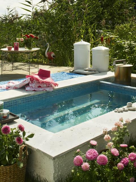 Casinha bonitinha mini piscina for Mini albercas