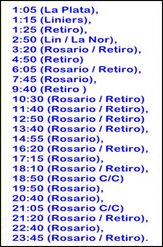 A Rosario o Retiro:
